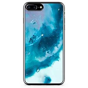 iPhone 7 Plus Transparent Edge Phone Case Blue Marble Phone Case Blue Water iPhone 7 Plus Cover with Transparent Frame