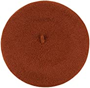 NYFASHION101 French Style Lightweight Casual Classic Solid Color Wool Beret, Rust