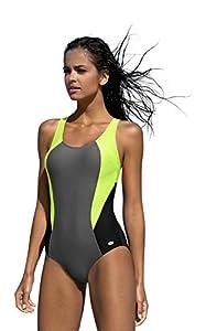 Badeanzug fur Damen endurance einteiliger Schwimmanzug Vorgeformte BH-Cups