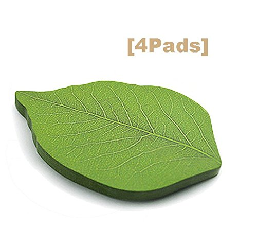 CP-nine 200 Pages Creative Green Tree Leaf Paper Sticky Memo Notes, Scratch Pads, Sticky Note, Memo Pad ,Notepad (50Pages/Set x 4Sets)
