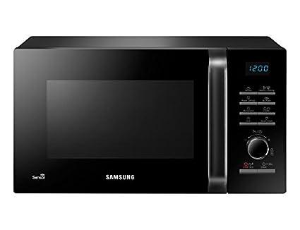 Samsung MG23H3125NK - Microondas con grill, 23 litros, 1200 W, con sensor de