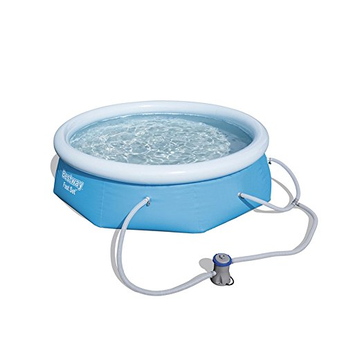 Bestway 8#039 x 26quot Fast Set Inflatable Above Ground Swimming Pool w/Filter Pump