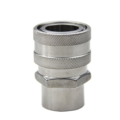 (UP100 304 Stainless Steel Quick Disconnect Set Home Brew Fitting Connector Homebrewing (QD Female 1/2 FPT))