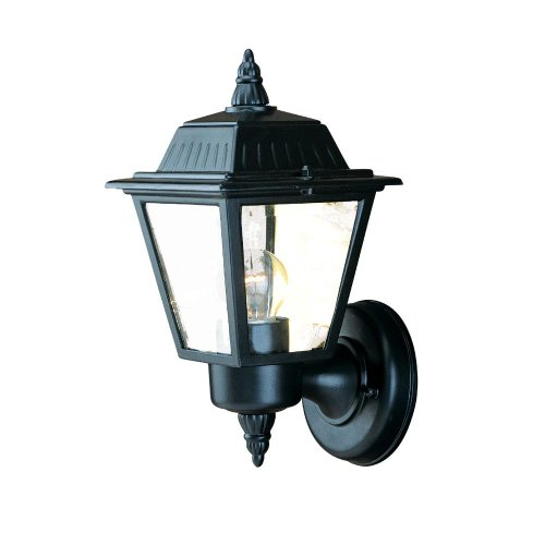 Acclaim 5005BK Builder's Choice Collection 1-Light Wall Mount Outdoor Light Fixture, Matte Black by Acclaim