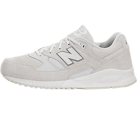 (New Balance Mens 530 Pin Perf Suede Grey White M530AW (11 D(M) US, Grey White))