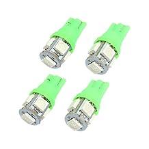 4 Pcs DC 12V T10 Car Green 5 LED 5050 SMD Side Wedge Light Meter Panel Bulb Lamp