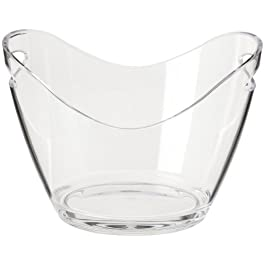 Prodyne Vino Gondola Wine Bucket, Clear