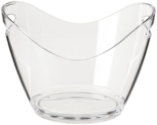 Prodyne G-2-C Two Bottle Bucket, (Clear Ice Bucket)