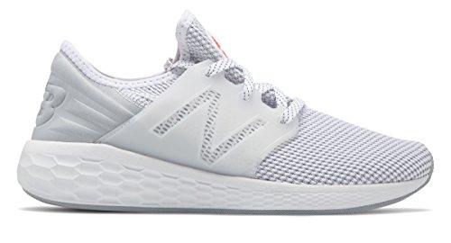 [New Balance(ニューバランス)] 靴?シューズ レディースランニング Womens Fresh Foam Cruz v2 Sport White with Silver Mink ホワイト シルバー ミンク US 10 (27cm)
