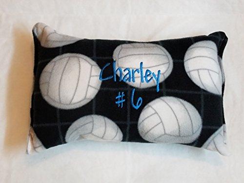 Toddler Decor Cuddle Pillow Tween Decor Volleyball Soft Fleece ()