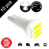 LED Monster 10 x T5 3 SMD White LED Bulbs Instrument Panel Gauge Cluster Replacement Lamp for Lexus