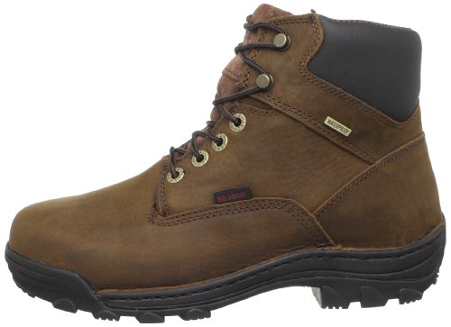WOLVERINE WORLDWIDE - Durbin Waterproof Work Boots, Extra Wide, Brown Nubuck Leather, Men's Size 9.5