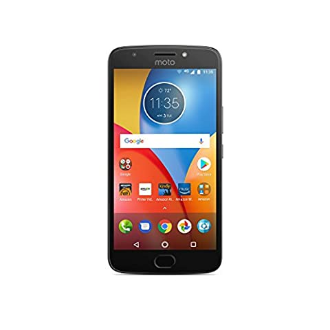 Moto E Plus (4th Generation) - 16 GB - Unlocked (AT&T/Sprint/T-Mobile/Verizon) - Iron Gray - Prime Exclusive - with Lockscreen Offers & (Verizon Compatible Android Phone)