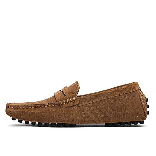 Scarpe Cachi da Mocassini scamosciata Mocassini on Mocassini casual Flat da guida in Business pelle uomo EU to pelle 49 Scarpe scamosciata scivolate barca Fashion da Size ShoesUp Slip in Otprdirect tOqCwO