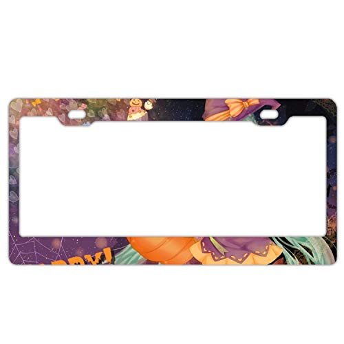 (YEX Abstract Holiday Halloween Hatsune Miku Vocaloid4 License Plate Frame Car Licence Plate Covers Auto Tag Holder 6