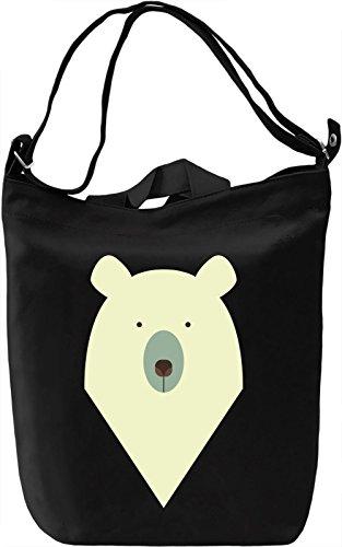 Graphic polar bear Borsa Giornaliera Canvas Canvas Day Bag| 100% Premium Cotton Canvas| DTG Printing|