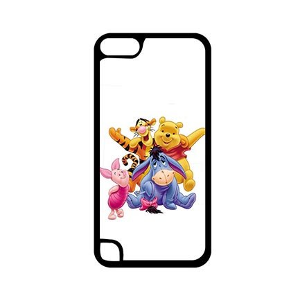 Cute Anime Winnie the Pooh Case Cover for iPod Touch 5th Generation - Customize Black iPod Touch 5th Generation Snap On Case Special Gift for (Frozen Ipod Cases 5th Generation)