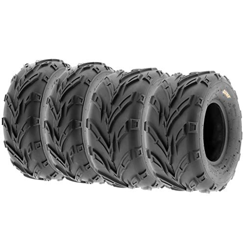 Set of 4 SunF A004 Go-Kart ATV Tires 16×6-8 Front & 16×7-8 Rear, all terrain, 6 PR, Tubeless