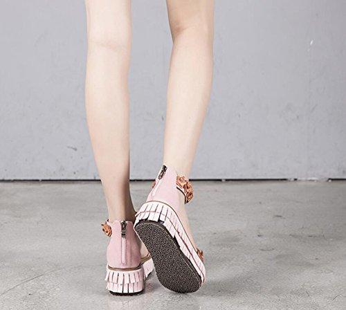 Vrouwelijke Sandalen Zomer Nieuwe Sexy Holle Retro-casual Student Flat Met Romeinse Schoenen