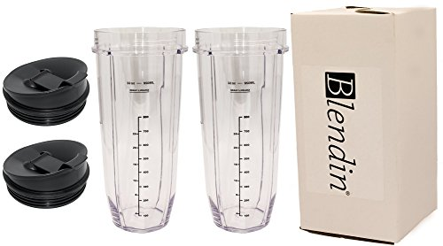 Blendin Replacement Jar with Sip N Seal Lid, Fits Nutri Ninja Auto IQ and Duo Blenders (2, 32 Ounce) by BLENDIN (Image #4)