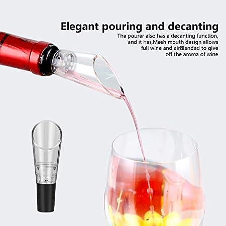 hicoosee Abrebotellas de Vino, Sacacorchos a Presión de Aire, Cortador de Papel de Aluminio, Vertedor de Vino, Tapón de Vacío