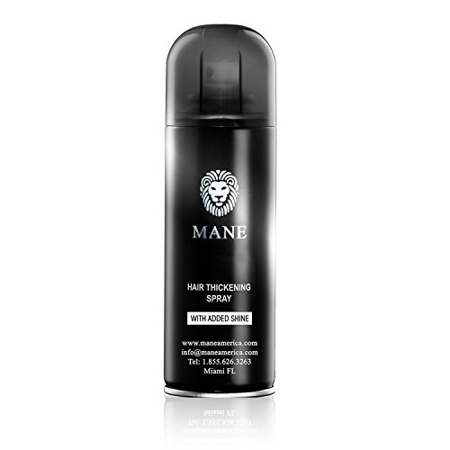 Mane America Hair Thickening Spray with Added Shine Root Concealer (Jet Black)