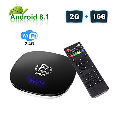 Sawpy A95XF1 Android TV Box 2GB +16GB Android 8 1 4K Smart TV Box 64bit  Quad-core Cortex-A53