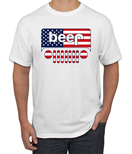 (Wild Bobby Beer Logo | Cars and Trucks Parody Humor Alcohol | Mens Drinking Tee Graphic T-Shirt, White USA, 2XL)