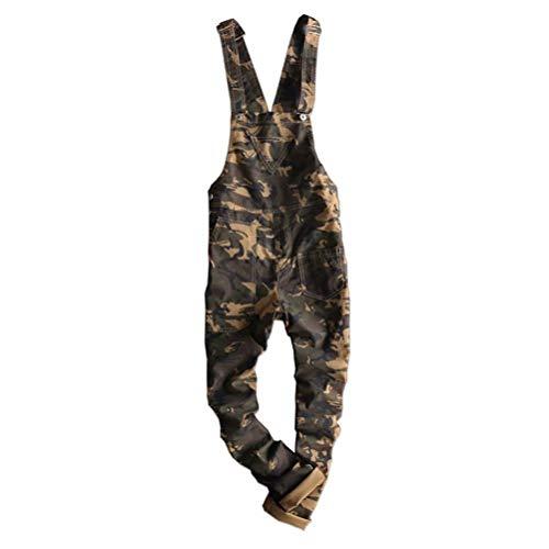 [해외]Tenflow 바인더 위장 망 올인원 작업 바지 뽀 빠이 바지 스키 니 작업복 롱 길이 무대 의상 hiphop / Tenflow Bridging Camouflage Men`s All-in-One Overall Salopette Skinny Work Wear Long Length Stage Costume hiphop