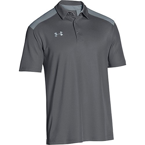 (Under Armour Men's Team Armour Colorblock Polo (Large, Graphite-Steel))