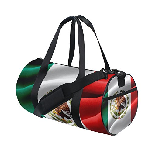 Gym Bag Mexican Flag Sports Travel Duffel Lightweight Canvas Bags (Bag Messenger Teens Flag For)