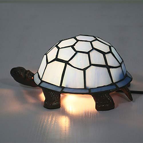 Tiffany Mini Turtle - AIBOTY European Tiffany Style Table Lamp Turtle Plug-in Bedroom Bedside Table Lamps Creative Cute Cartoon Night Light Children's Room,C