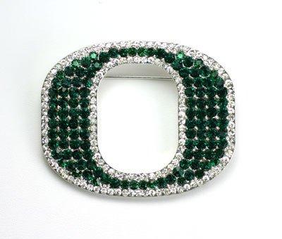 Seasons Jewelry Oregon Crystal Logo Pin (Pin Logo College University)