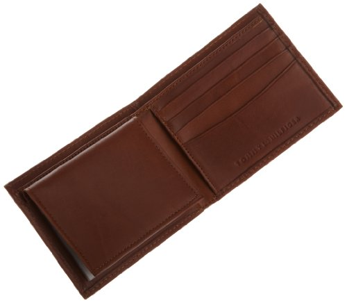 Hove Hilfiger Hilfiger Tommy Men's Men's Leather Passcase Tommy Tan Wallet 100 OZHAxwFq