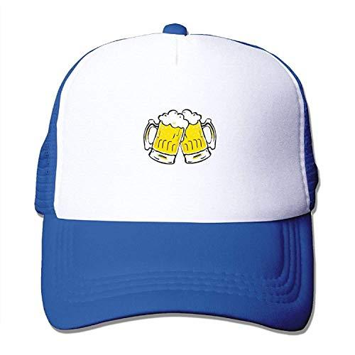 Visor Cheer (Lonely-2c Festival Cheers Beer Adult Baseball Visor Cap Adjustable Mesh Hat Black)