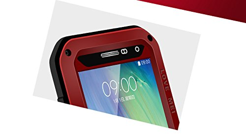 Vogue shop Aluminum case Powerful Hard Metal Dustproof Snowproof Shockproof Dust Dirt Snow proof Armor Defender Heavy Duty Full Body Skin Protection Protective Case Cover for Samsung Galaxy A5 with 1 stylus (random color)(red)