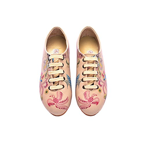 Goby Chaussures Uk Scarpe Basse Stringate Donna (ailes Slv15)