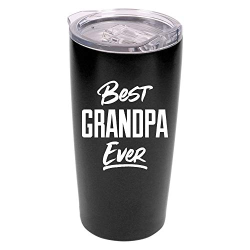 Best Grandpa Ever Tumbler - 20 oz Stainless Steel Insulated Travel Mug - Grandpa Birthday Gift | Christmas | Father's Day | New Grandpa - Grandkids Mug