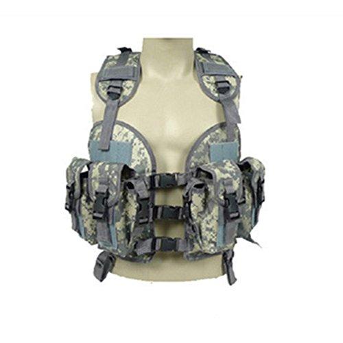 Stunden Tactical Weste Militär Airsoft paintball Weste leicht MOLLE Weste Camouflage1