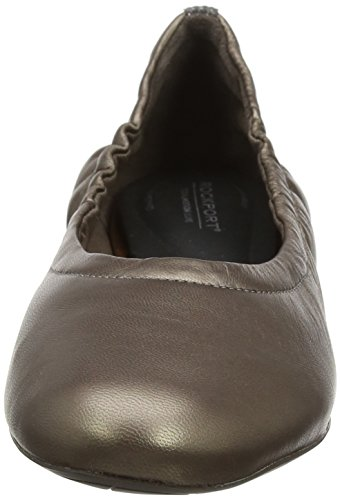 Beige Femme Metallic Rockport Taupe Motion Total Wedge Hidden 20mm Ballerines 47PqO0