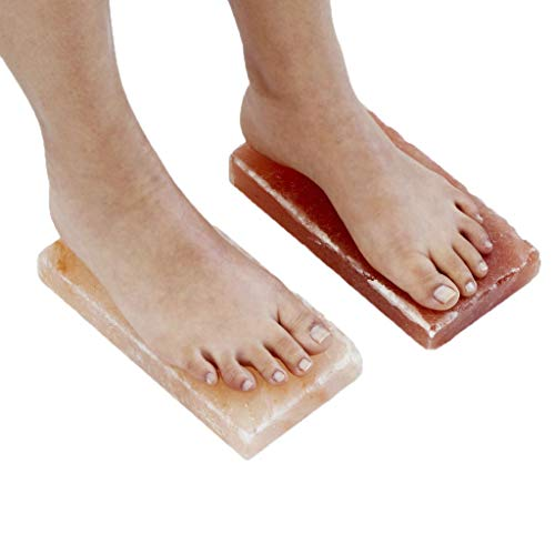 Crystals Himalayan Spa Salt - New Himalayan Salt Block Detox for Foot (Set of Two) (Size 8