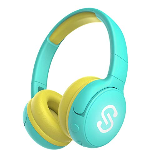 SoundPEATS Kids Bluetooth Headphones 85db Volume Limited Over-Ear Children Wireless Headphones Foldable Headset, Wireless/Wired, Extended 20 Hours Playtime, Stereo Sound, Built-in Mic