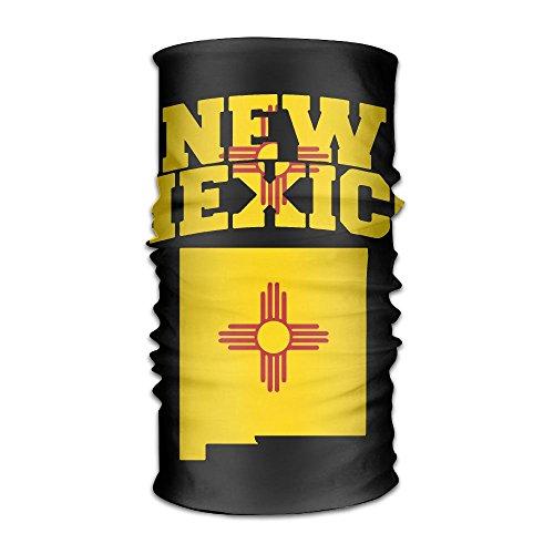 Women Men Headwear Bandanas Wrap Scarf Headscarf,Sweat Wicking Headbands Bandana New Mexico State Flag Map Liner -
