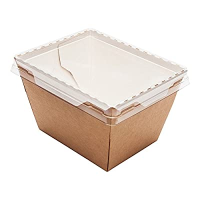 Small Cafe Vision Click Lock Take Out Container 17 ounces 200 count box Clear Lid Sold Separately