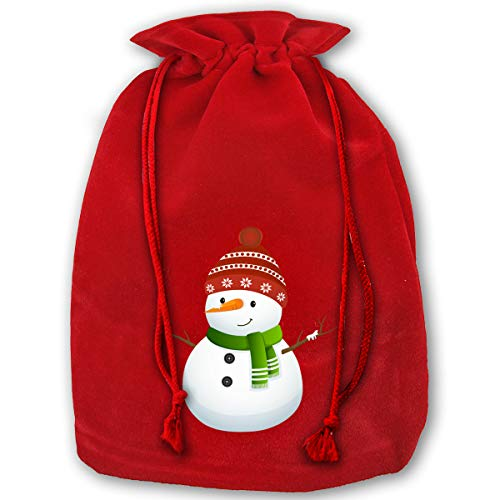 3 Pack Christmas Sacks Santa Stocking Gift Sack Express Delivery Present/Gift/Storage Bag from North Pole Red Drawstring Gift Bag, Cute-Snowman-Clipart-Black-and-White