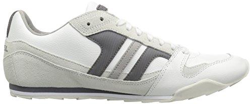 Diesel Long Term Gunner Nylon Herren Sneaker White/Charcoal Grey-ps264h2109