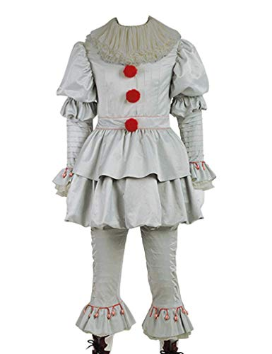 Red Dot Boutique 8037 - IT Movie 2017 Pennywise Clown Halloween Costume Outfit for Adults (6) XL -