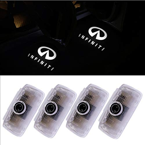 Infiniti Car Accesories LED Door Logo Lights projector Infiniti Shadow Ghost Emblem Welcome Logo Light for FX37 FX50 G37 G25 Q50 M25 M35 M37 EX25 M35 M37 QX50 QX56 QX70 QX80 Auto Part Lamps 4PCS