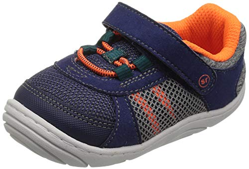 Stride Rite unisex-baby Aspen  Machine Washable Sneaker First Walker Shoe, Navy, 4.5 M US Toddler