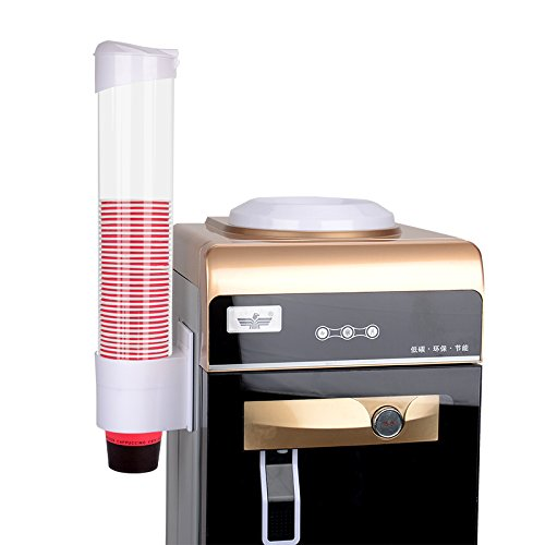 Cup Dispenser Magnetic&Screw Plate Mountable (X-Large, White)